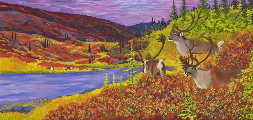 Caribou Bay, painted by Yellowknife artist Ann Timmins
